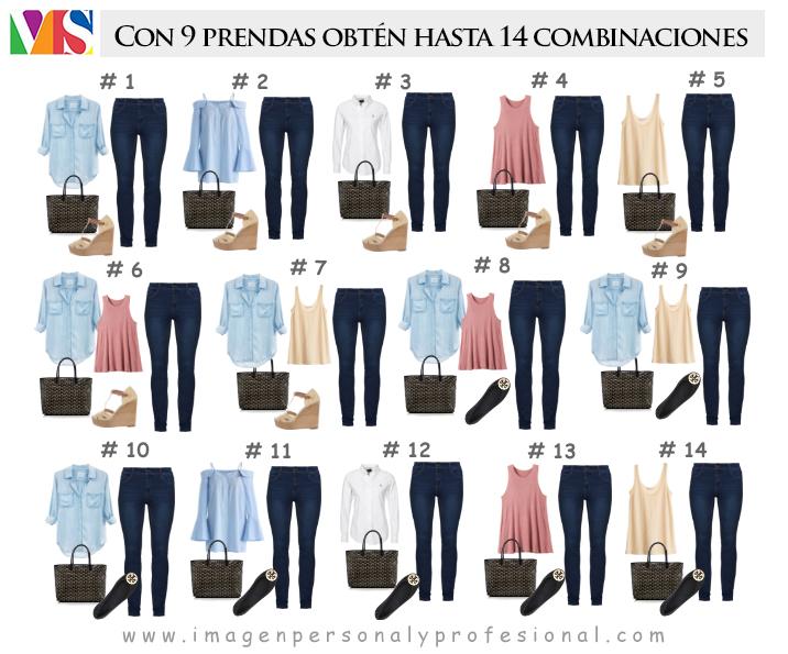 combinaciones capsula jeans