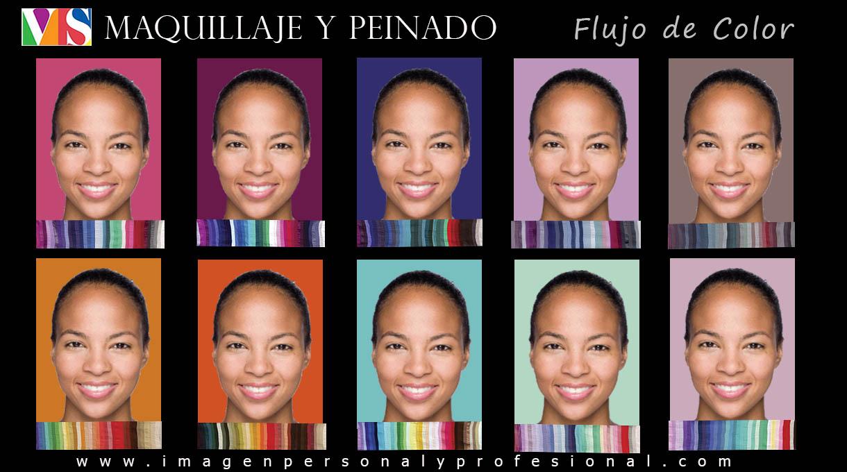 colorimetria maquillaje y peinado