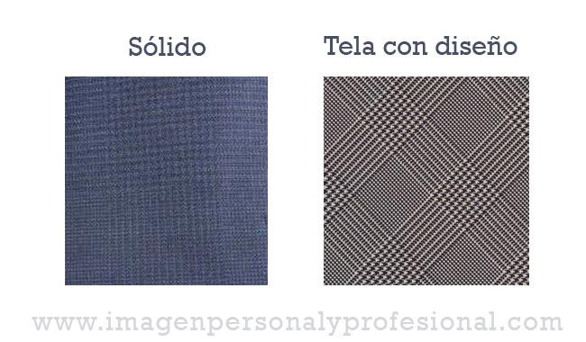 tela con diseño y tela solido